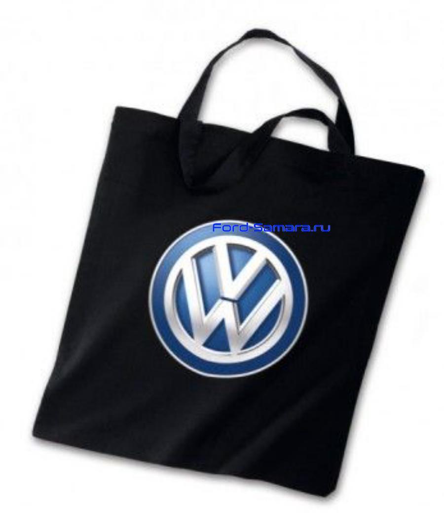 Хлопковая сумка с ручками Volkswagen Logo Cotton Bag Black