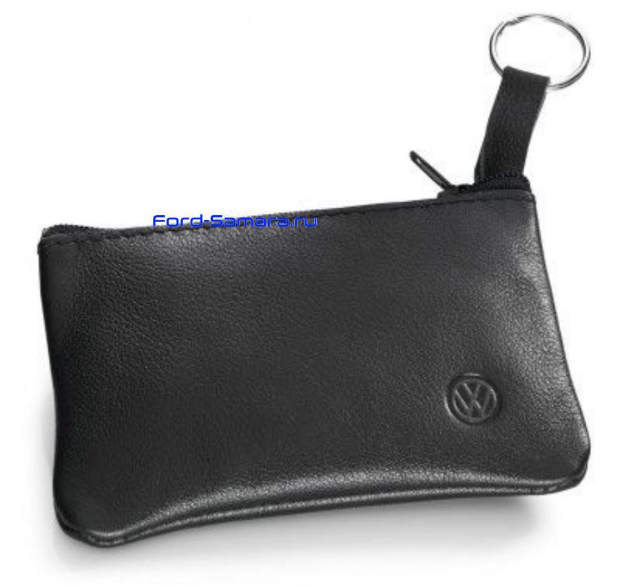 Кожаная ключница Volkswagen Leather Key Pouch Black