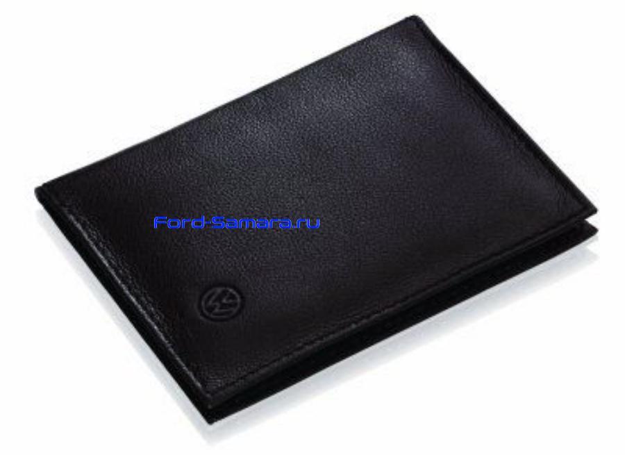 Кожаный футляр для автодокументов Volkswagen Document Leather Case Black