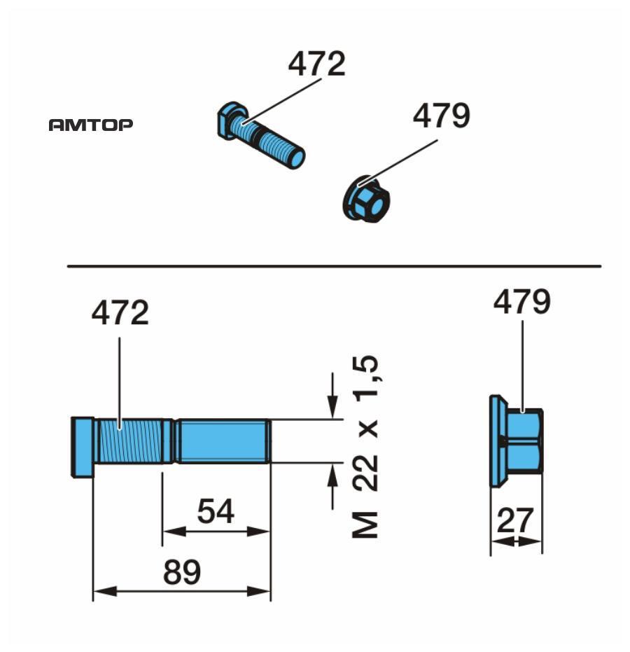 Комплект деталей для установки болтов крепления колесаПоз. 472, 479