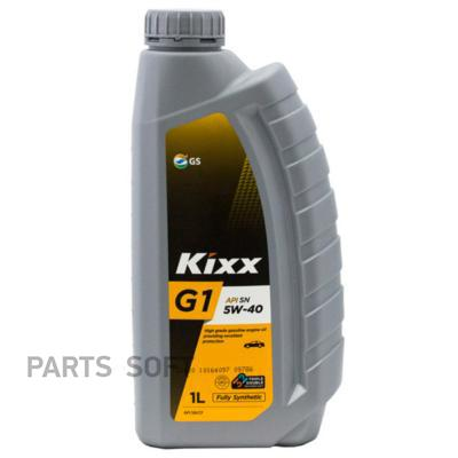 Масло моторное Kixx G1 5w40 API SN/CF (Gold) /1л пласт.