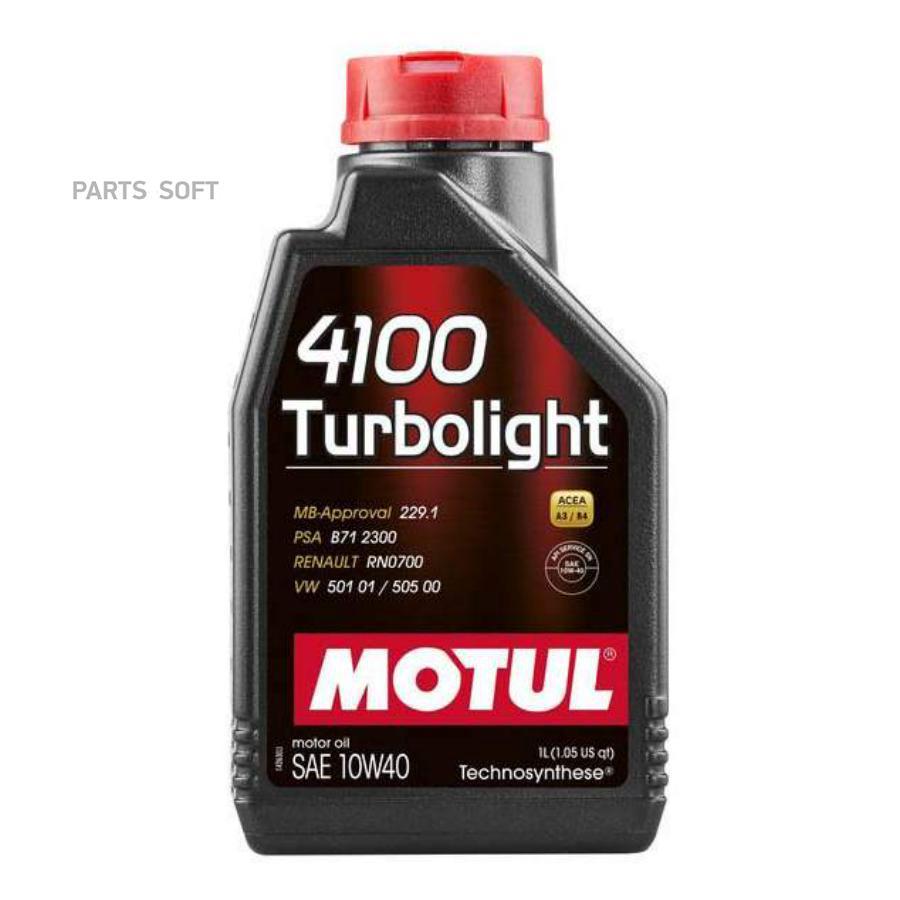 Моторное масло MOTUL 4100 Turbolight 10W40 (1 л.)