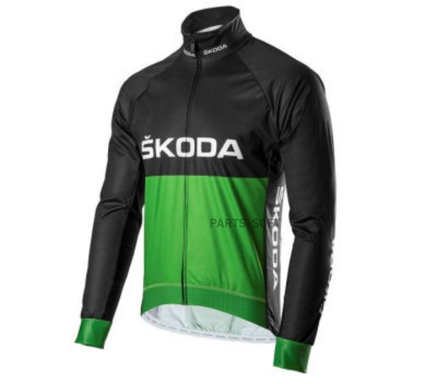 Мужская велосипедная куртка Skoda Cycling Jacket Mens Black/Green