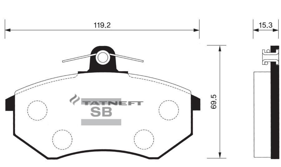 Колодки тормозные передние SP1043