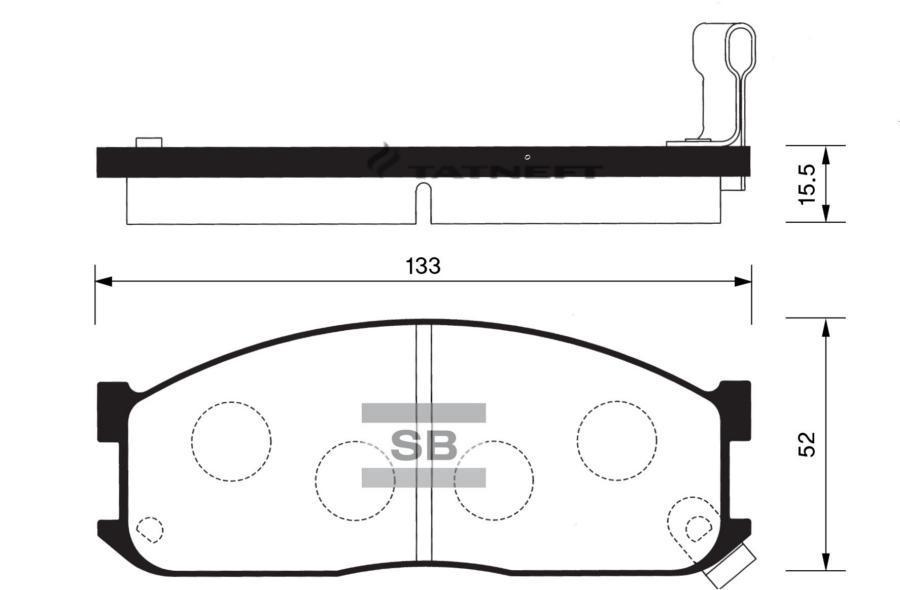 Колодки тормозные передние SP1044