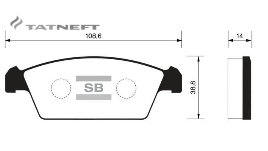 Колодки тормозные передние SP1050