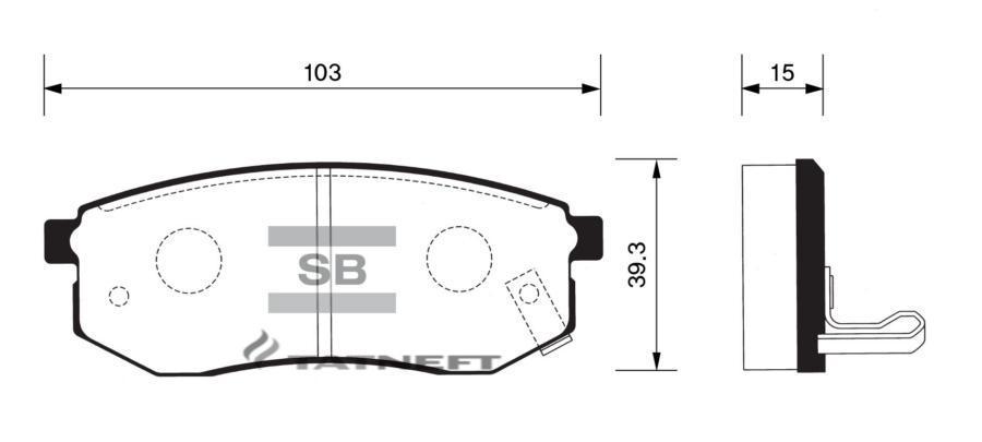 Колодки тормозные задние SP1054R