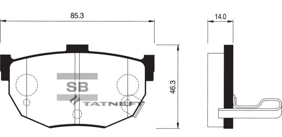 Колодки тормозные задние SP1062
