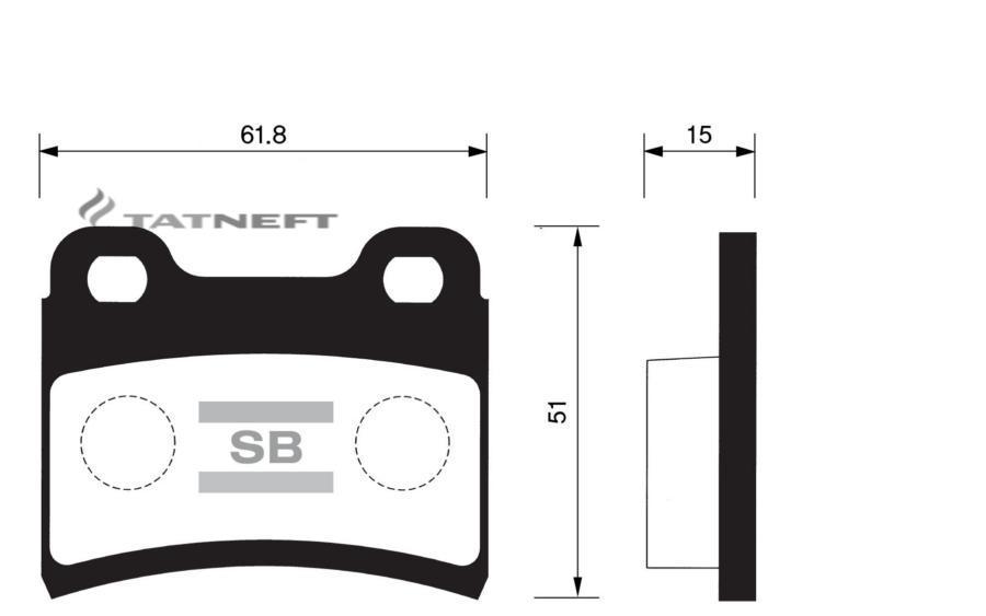 Колодки тормозные задние SP1064
