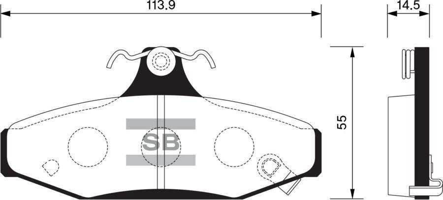 Колодки тормозные задние SP1066