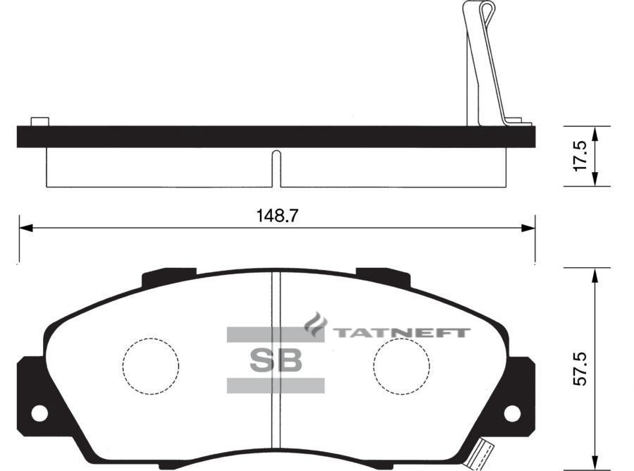 Колодки тормозные передние SP1076F