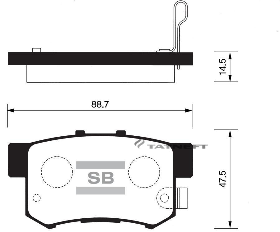Колодки тормозные задние SP1076R