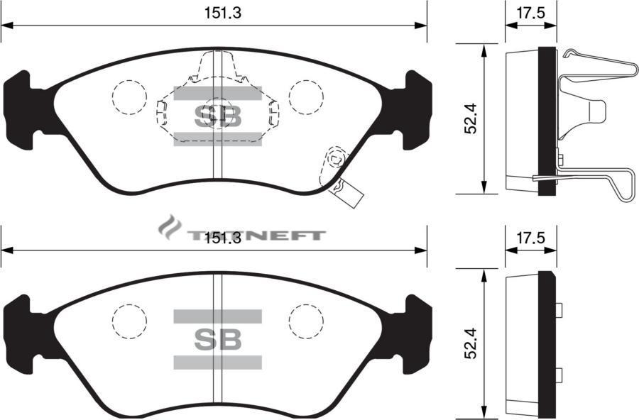 Колодки тормозные передние SP1079F