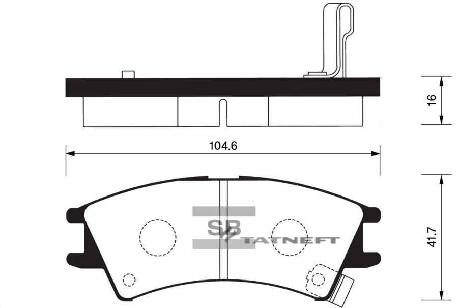 Колодки тормозные передние SP1096