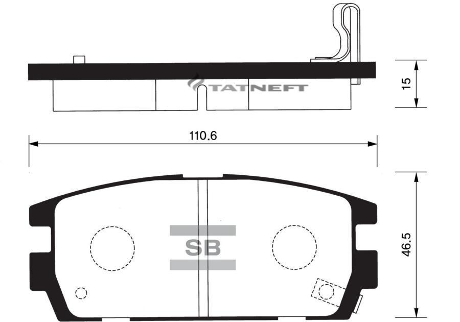 Колодки тормозные задние SP1098