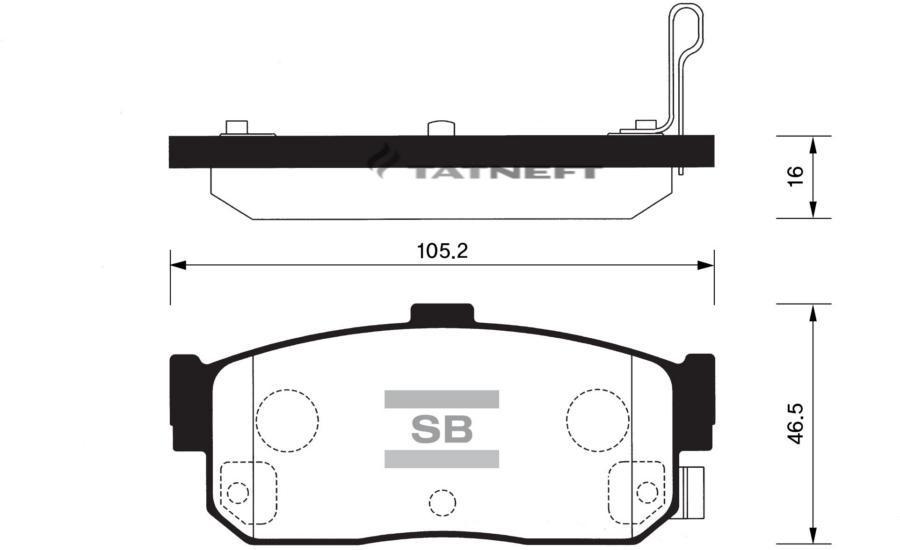 Колодки тормозные задние SP1107R