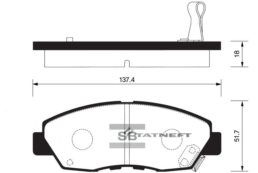 Колодки тормозные передние SP1109