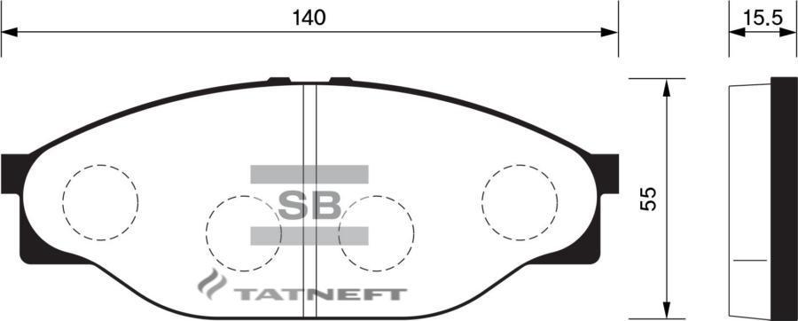 Колодки тормозные передние SP1139