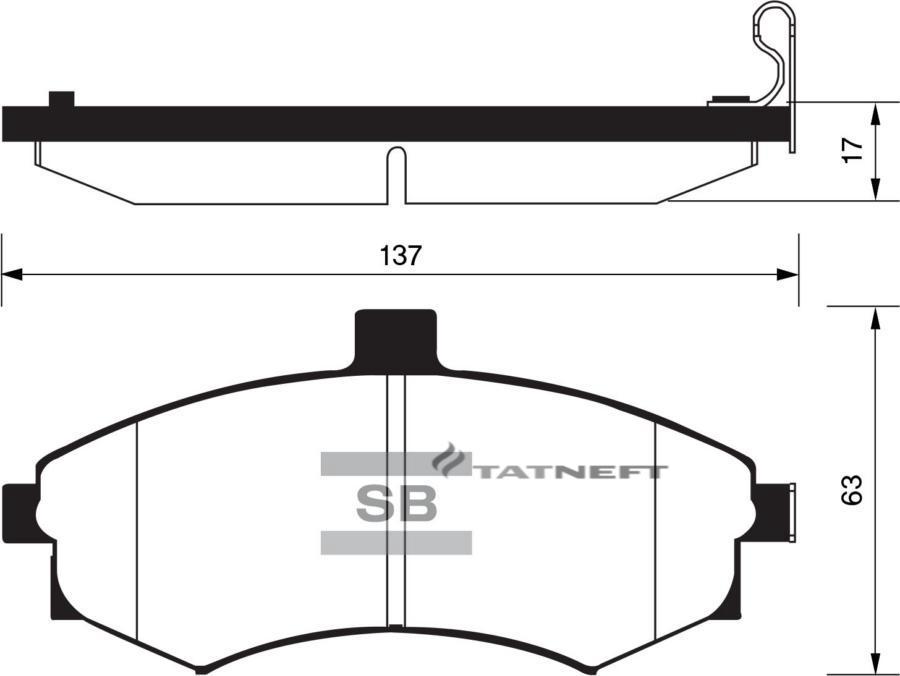 Колодки Hyundai Elantra XD F