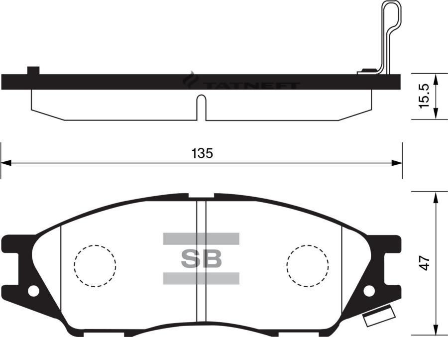 Колодки тормозные передние SP1156
