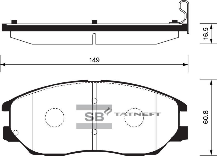 Колодки тормозные передние SP1161