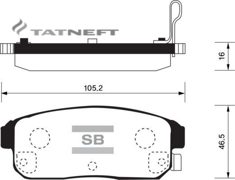 Колодки тормозные задние SP1163