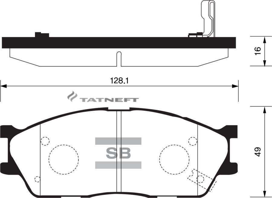 Колодки тормозные передние SP1164