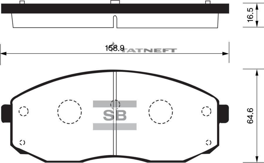 Колодки тормозные передние SP1176