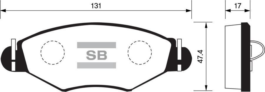 Колодки тормозные передние SP1179