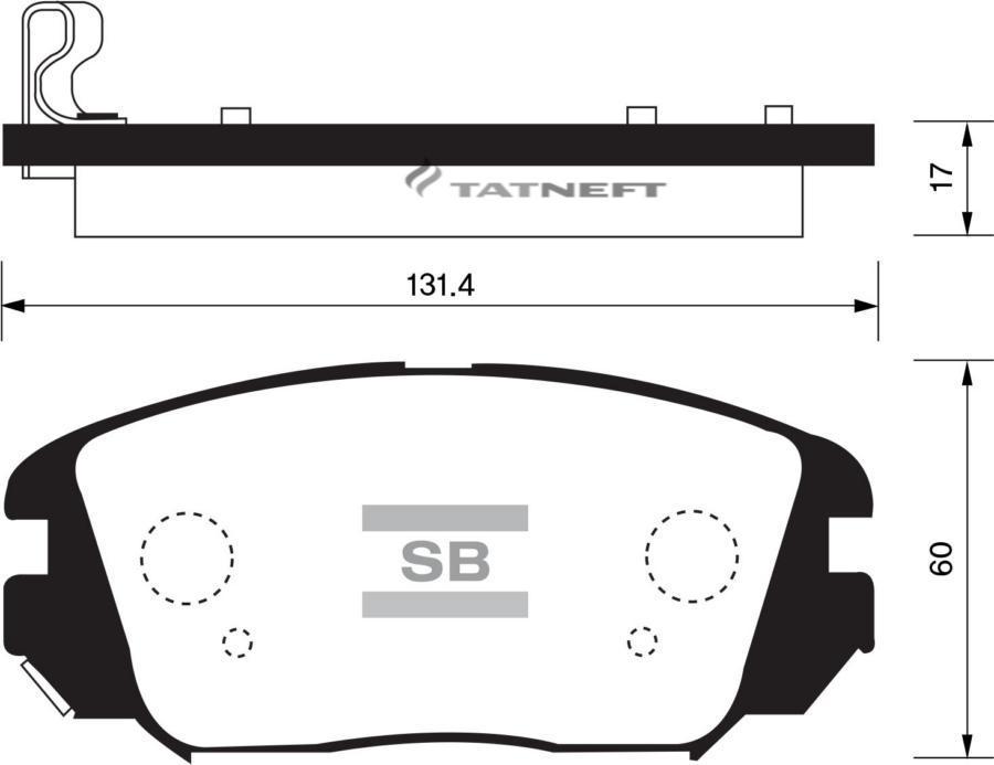 Колодки тормозные передние SP1182