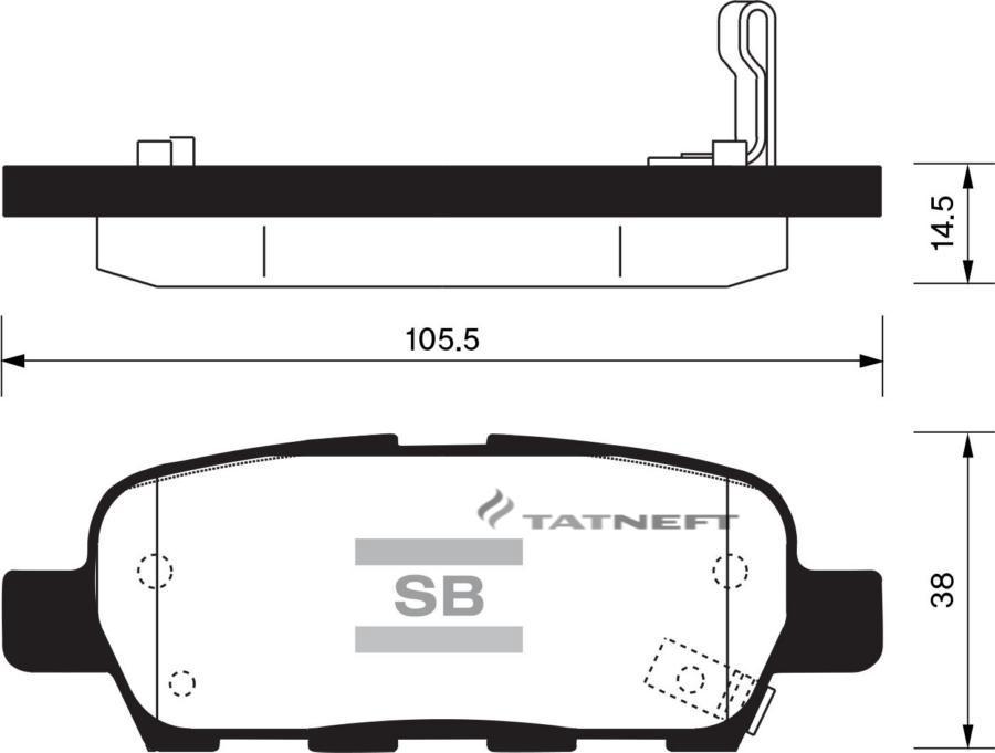 Колодки тормозные задние SP1184
