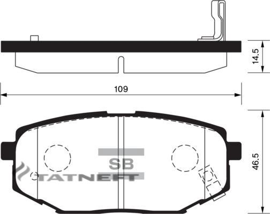 Колодки тормозные задние SP1185