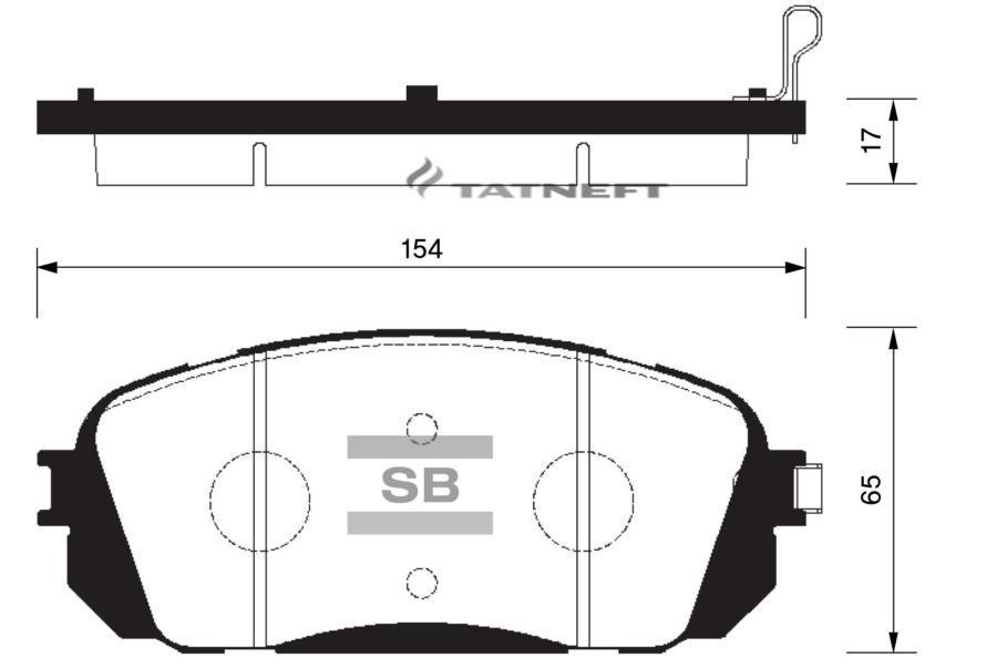 Колодки тормозные передние SP1191