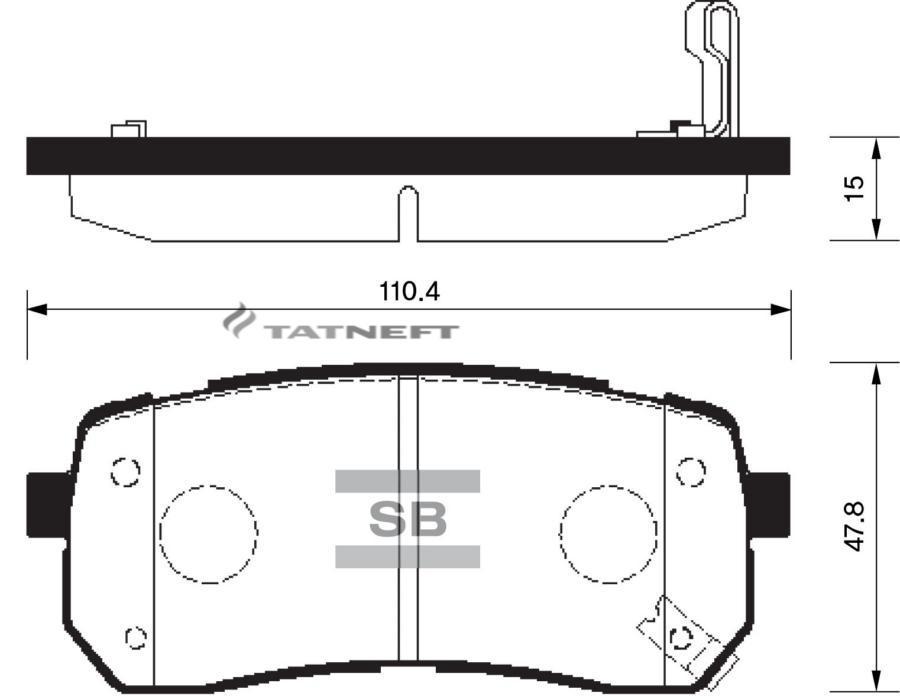 Колодки тормозные задние SP1192