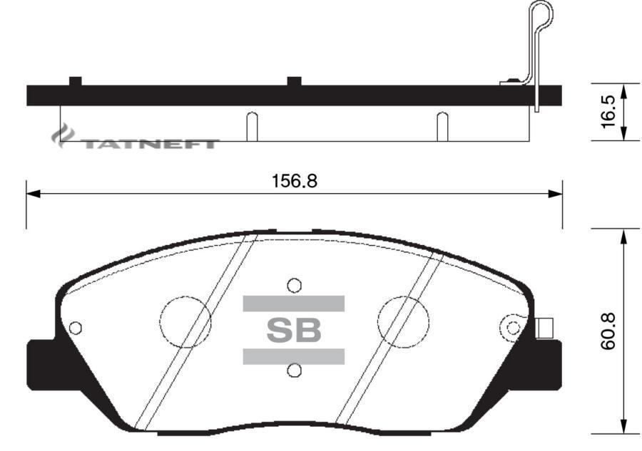 Колодки тормозные передние SP1194