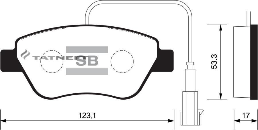 Колодки тормозные передние SP1201