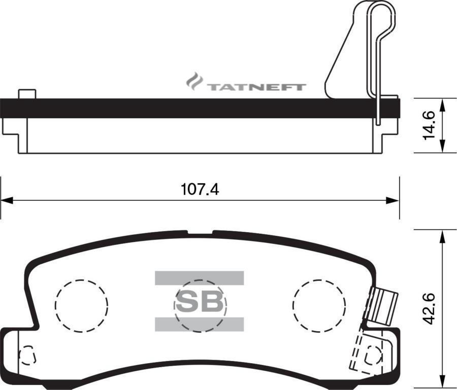 Колодки тормозные задние SP1208