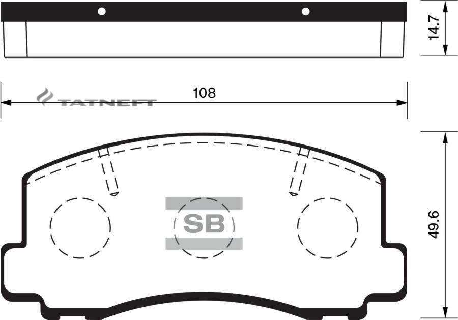 Колодки тормозные передние SP1211