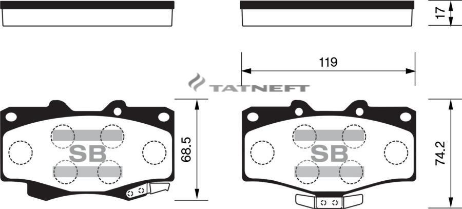 Колодки тормозные передние SP1222