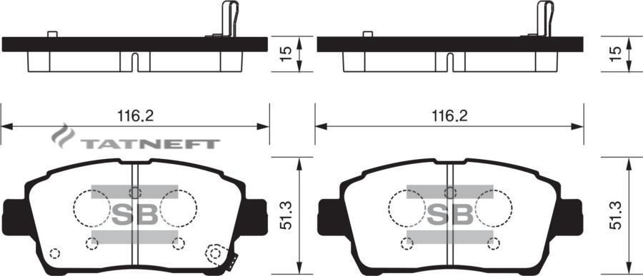 Колодки тормозные передние SP1232
