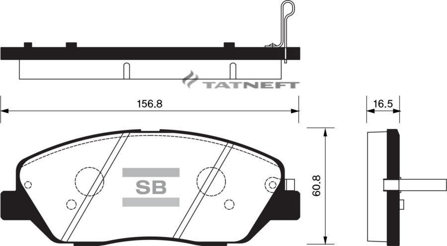 Колодки тормозные передние SP1246