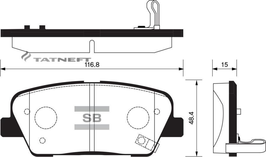Колодки тормозные задние SP1247