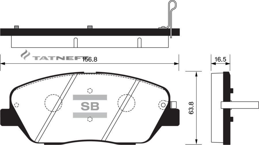 Колодки тормозные передние SP1248