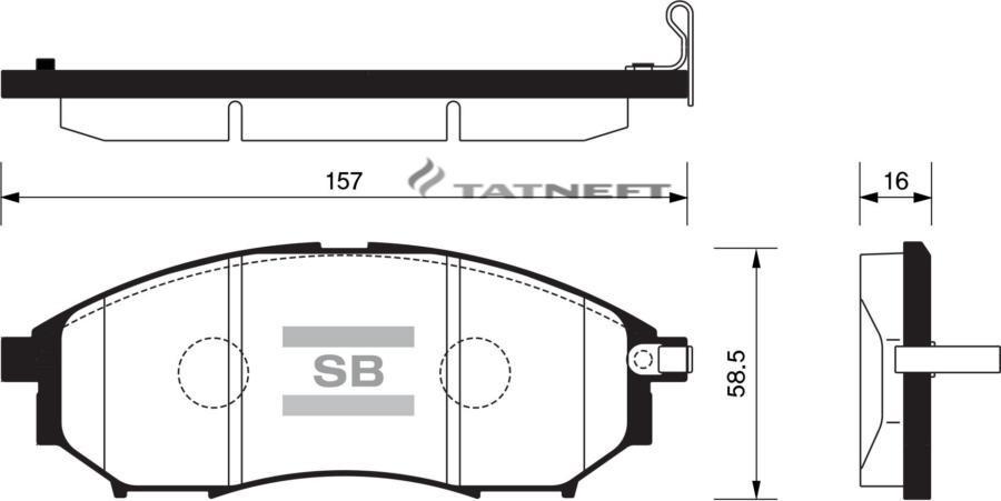 Колодки тормозные передние SP1249