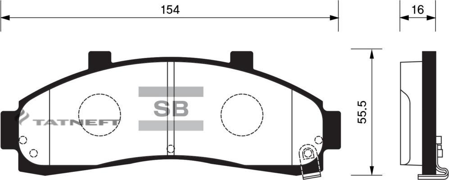 Колодки тормозные передние SP1264