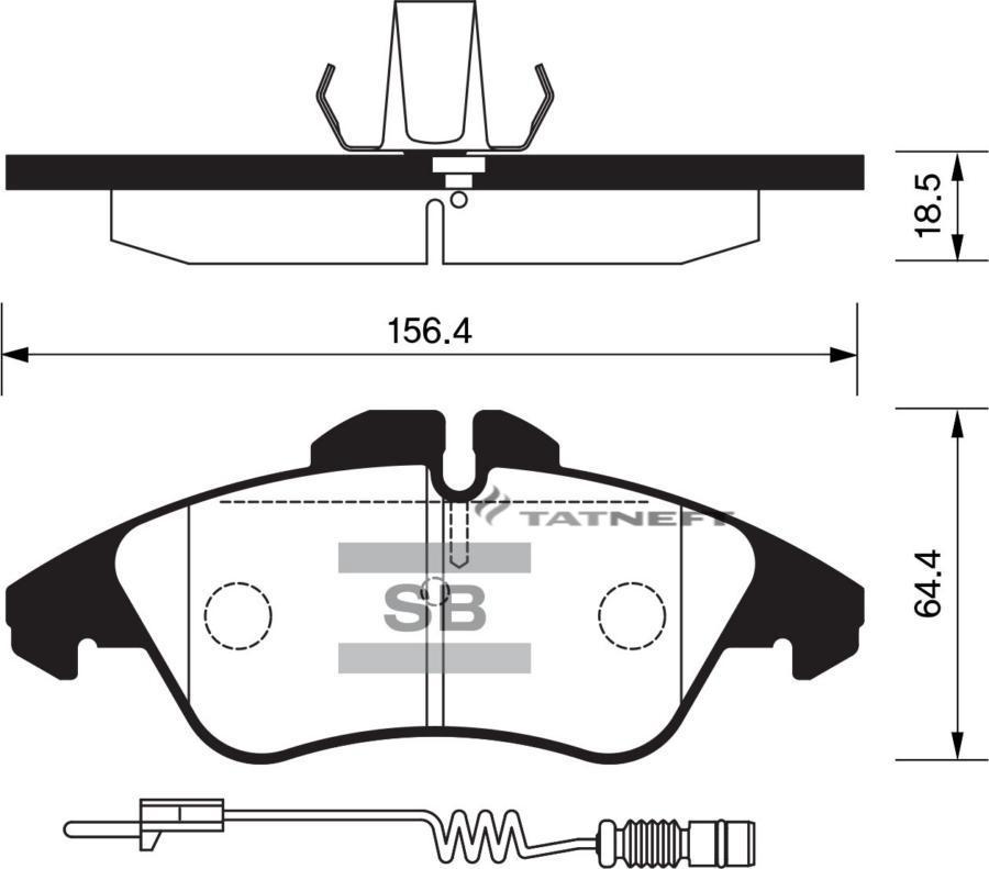 Колодки тормозные передние датчик
