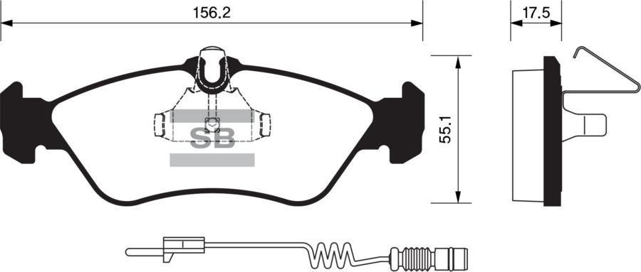 Колодки тормозные задние SP1274
