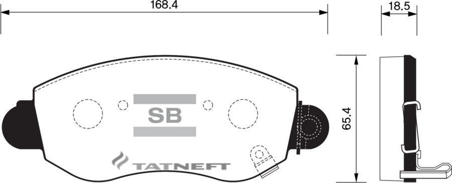 Колодки тормозные передние SP1275