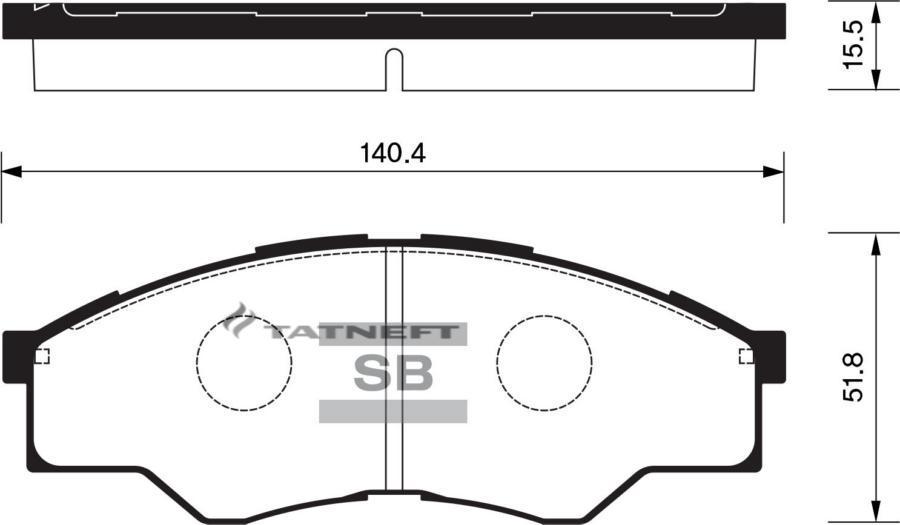 Колодки тормозные передние SP1276