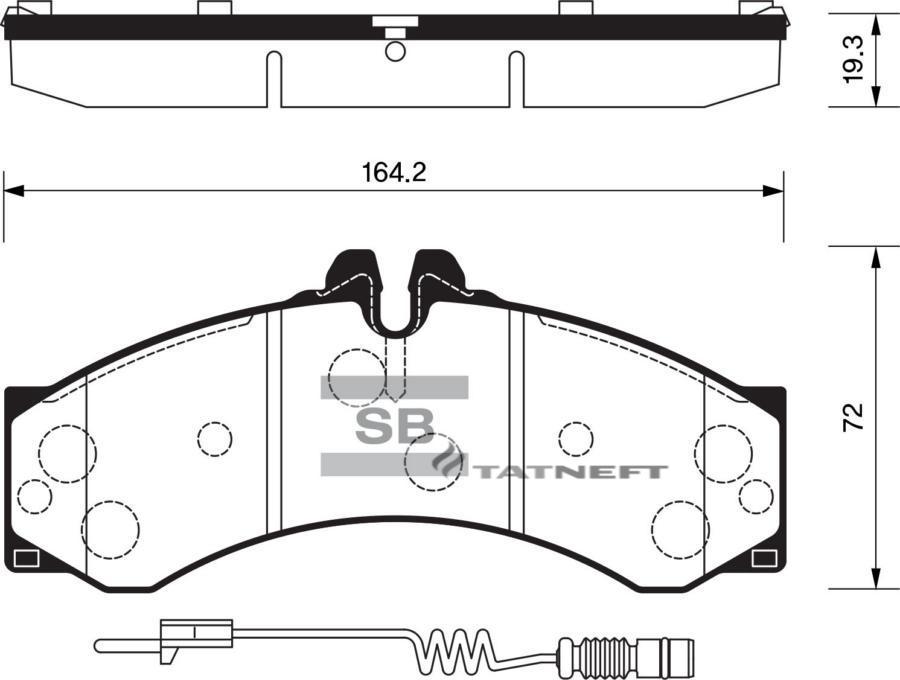 Колодки тормозные передние SP1277